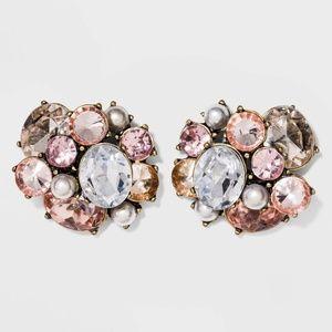 SUGARFIX byBaublebar Crystal Cluster Stud Earrings